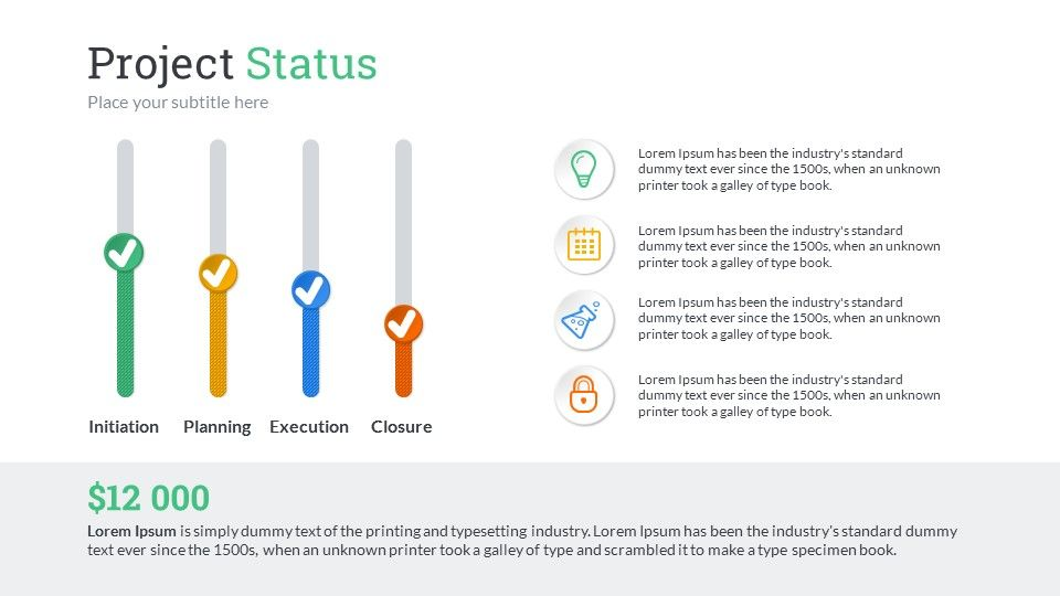project status powerpoint presentation template project management