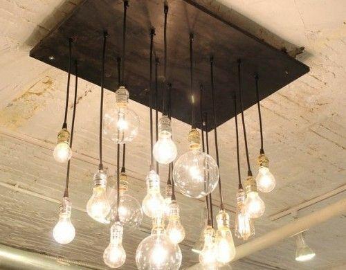 Günstige Wohnzimmerlampen ~ Coole diy lampen aus glühbirnen diy lampe glühbirnen und