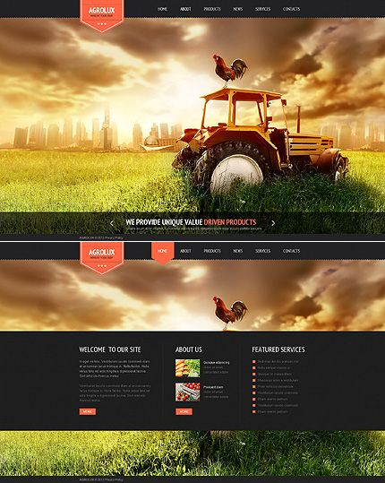Template 44539 - Agrolux Agriculture Website Template | Web Design ...