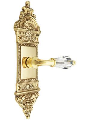 European Door Set With Crystal Glass Lever Handles | House Of Antique  Hardware