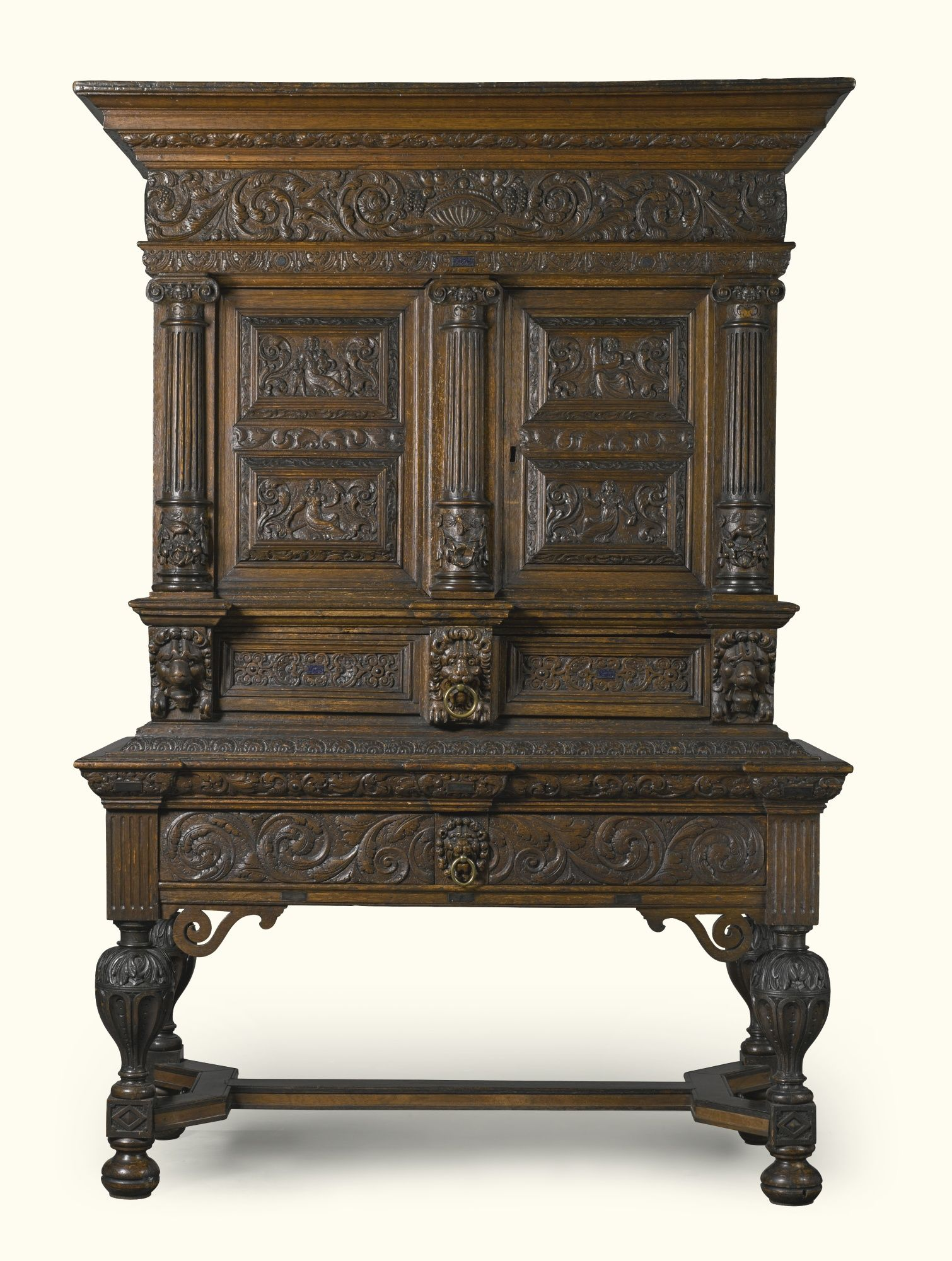 A Dutch Oak And Lapis Lazuli Inlaid Cabinet The Upper Section 17th Century The Lower Section 19th Centur Baroque Furniture Gothic Furniture Antique Furniture