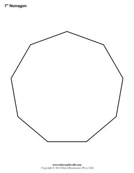 Free Printable Nonagon Templates To Use With Your Artwork School Assignments Decorations Stencils Signs Templates Printable Free Templates Shape Templates