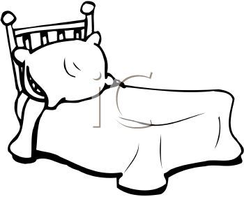 Black And White Bed With A Pillow Clip Art Pinterest Black And