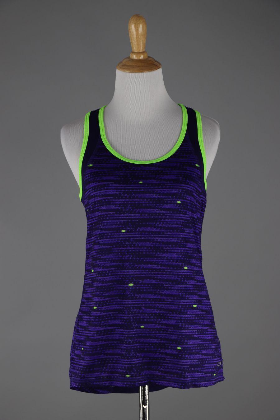 Champion duodry purple racer back active wear top size s goodtwice