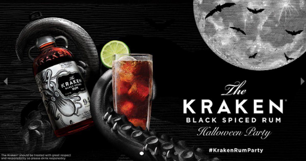 Host the kraken rum halloween pary party kit kraken rum