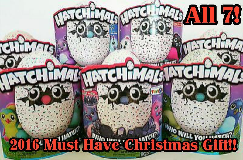 COMPLETE HATCHIMALS SET OF ALL 7! 2016 TOY OF THE YEAR *HOTTEST CHRISTMAS GIFT* #SpinMaster