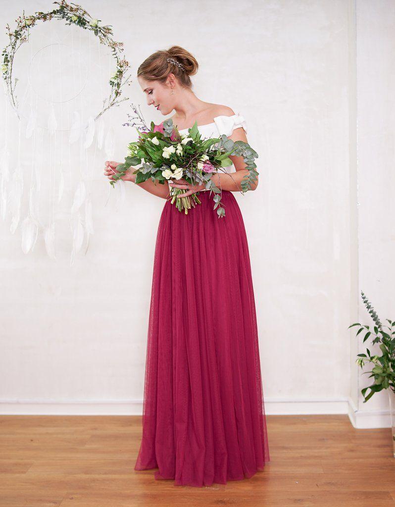 Langer Tullrock Hochzeitsrock Braut Standesamt Dieser Lange Rote Tullrock Ist Ideal Fur Die Kombination Mit Ein Hochzeitsrock Kleid Hochzeit Brautjungfern