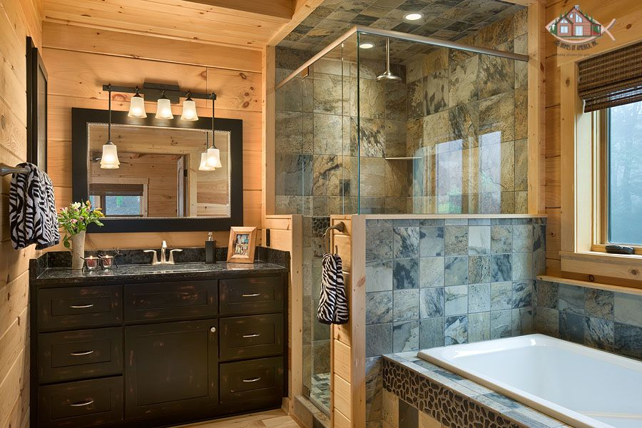 Master bathroom with easy to clean granite counter top and