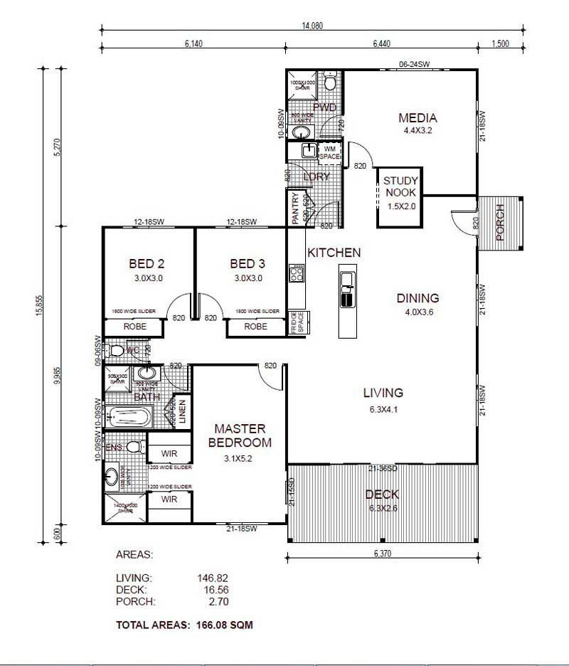 Plano de casa de un piso y m s de 150 m2 planos for Casa moderna 150 m2
