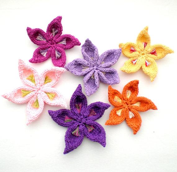 Pdf Knitting Pattern Sakura Flower Needlework Pinterest