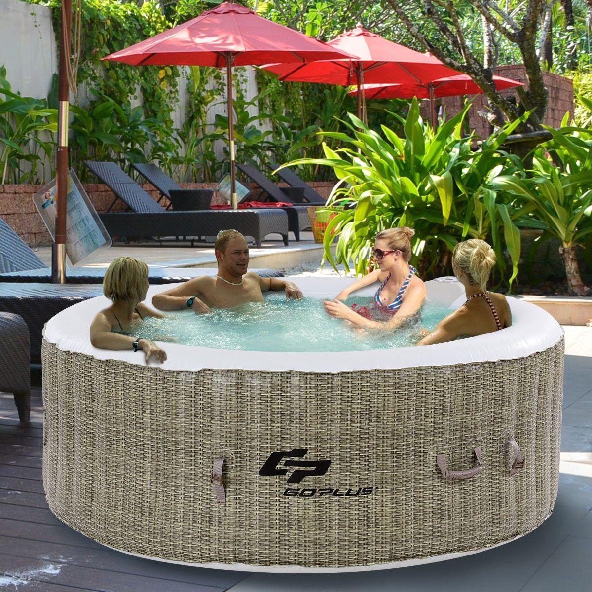 4 Personen Aufblasbarer Massage Spa Whirlpool Outdoor Pool Mit