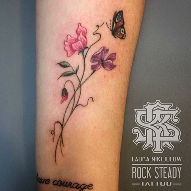 3bd034c02 Image result for sweet pea flower tattoo | Tattoo | Birth flower ...