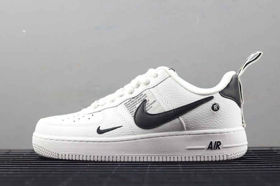 Nike Air Force 1 07 Lv8 Utility Pack White Black Aj7747 100 Moda Praia Infantil Moda Praia Sapatos