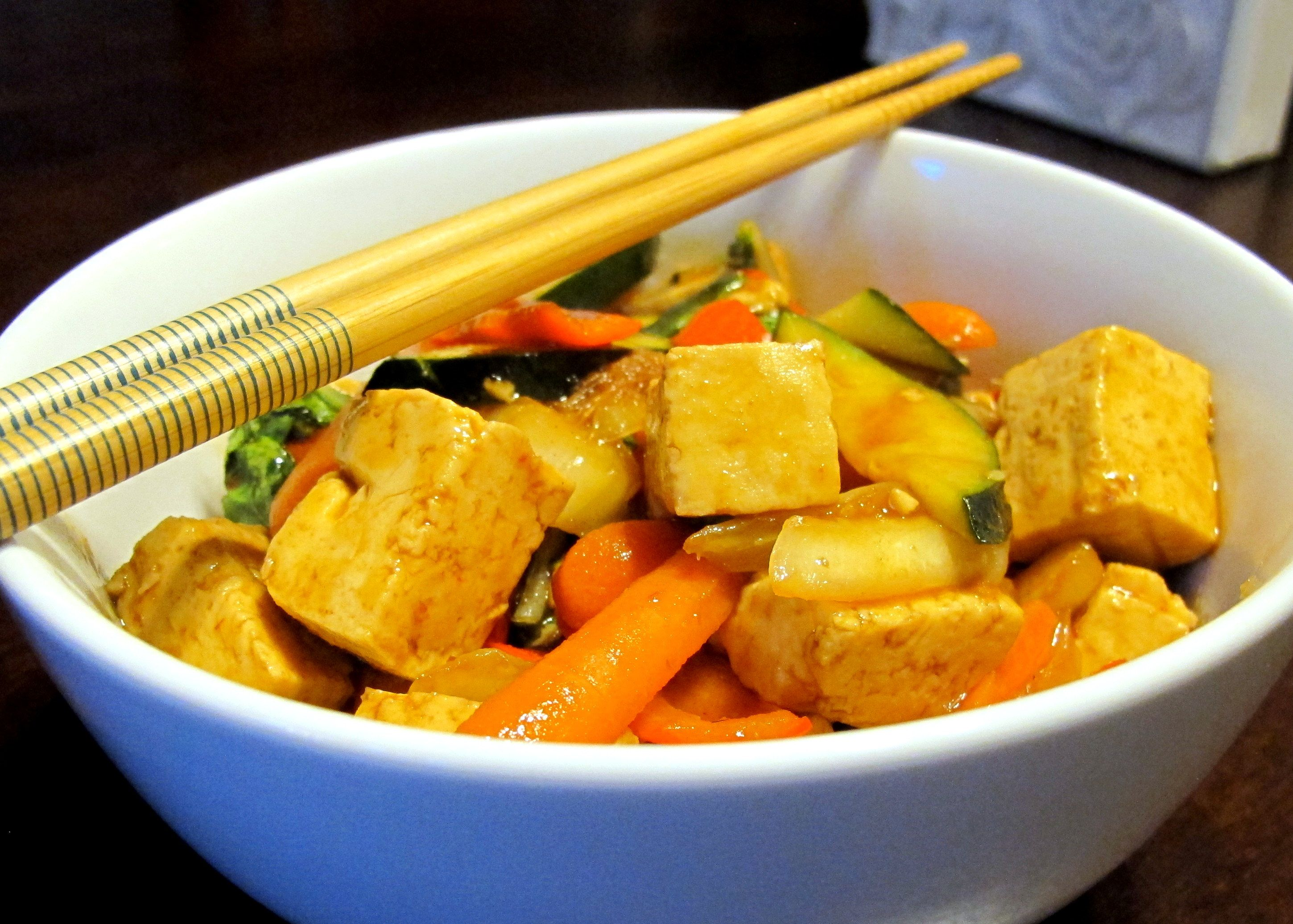 Tofu and Vegetable Stir Fry with a Chili Sauce - FODMAPs ...