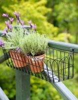 Wire Basket Planter Window Box Balcony Small Space Gardening Window Box Flowers Outdoor Gardens