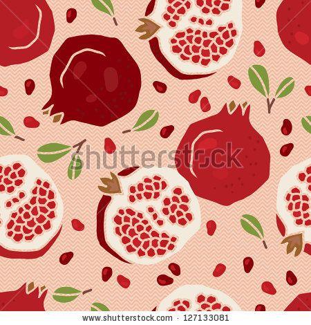 Vector Pomegranate Pattern - 103178771 : Shutterstock