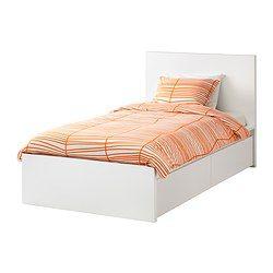 MALM Struct De Lit, Haut, 2 Rangements, Blanc, Luröy   IKEA