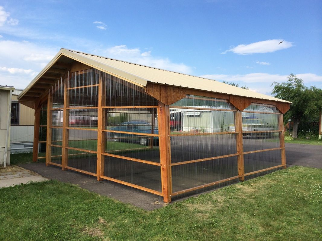 The perfect greenhouse. Dandi Carports can be sided and