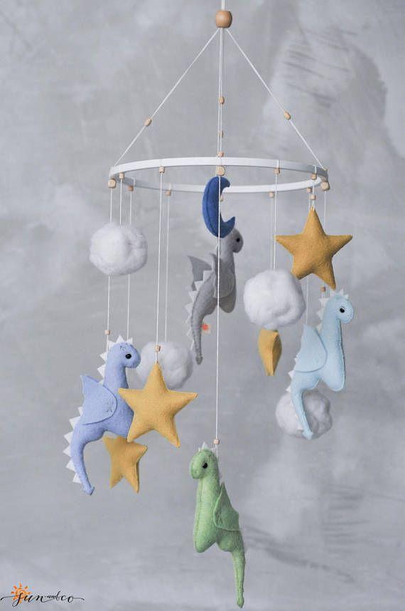 Dragon Mobile Baby Boy Mobile Star Mobile Dragon Nursery Decor