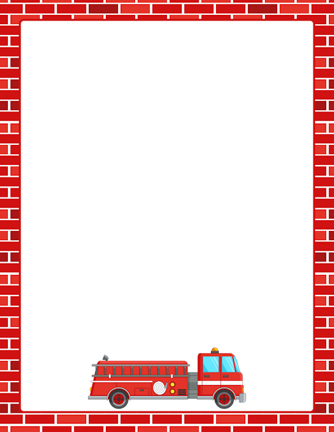 Printable Fire Truck Border Free GIF JPG PDF And PNG Downloads At Pagebordersorg