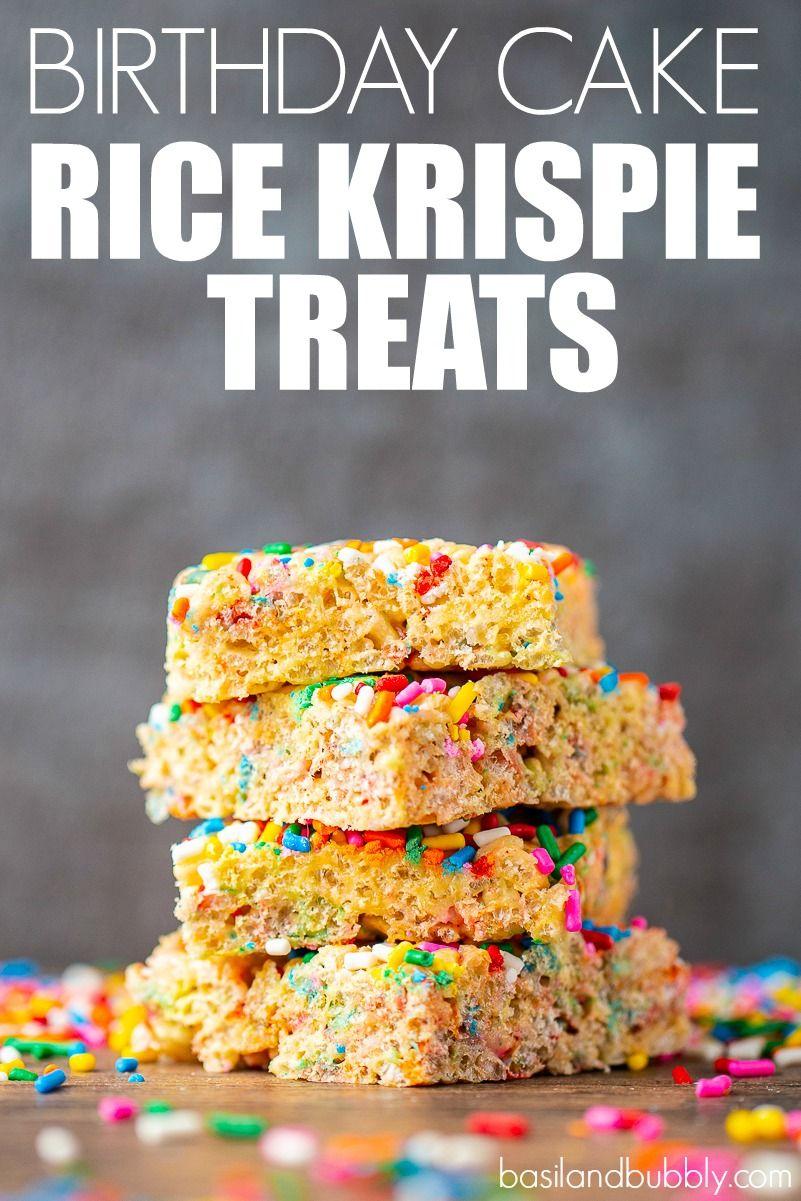 46+ Birthday cake rice krispie treat ingredients trends