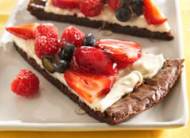 Red, White, & Brownie Pizza