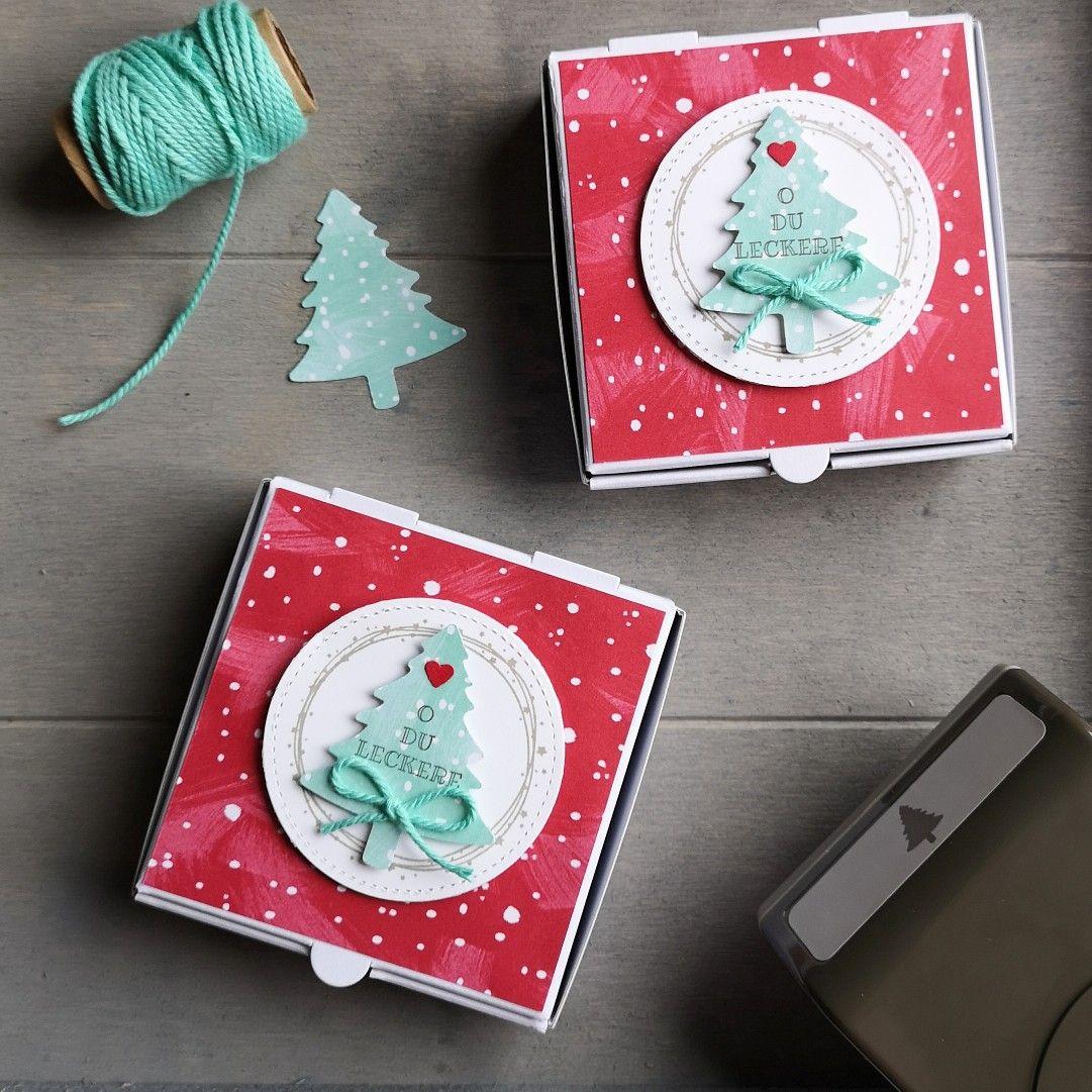 Stampinup Stampinnaturelove Weihnachten2019 Christmas Stanzenadelbaum Pizzabox Pizzaschachtel Gastg Stampin Up Christmas Stampin Up Diy Advent Calendar