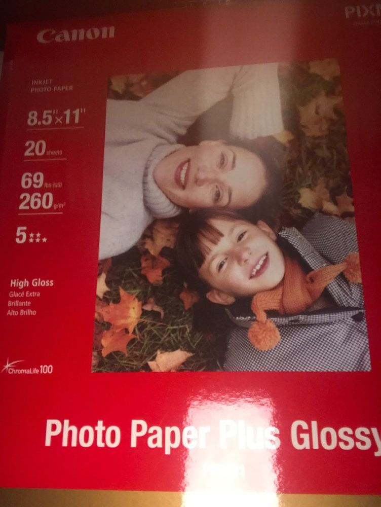 Canon Photo Paper Plus Glossy Ii 20 Sheets 85 X 11 High Gloss