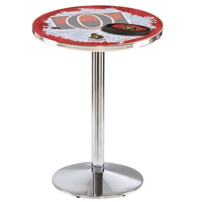 "Holland Bar Stool Pub Table NHL Team: Ottawa Senators, Tabletop Size: 42"" H x 28"" W x 28"" D"