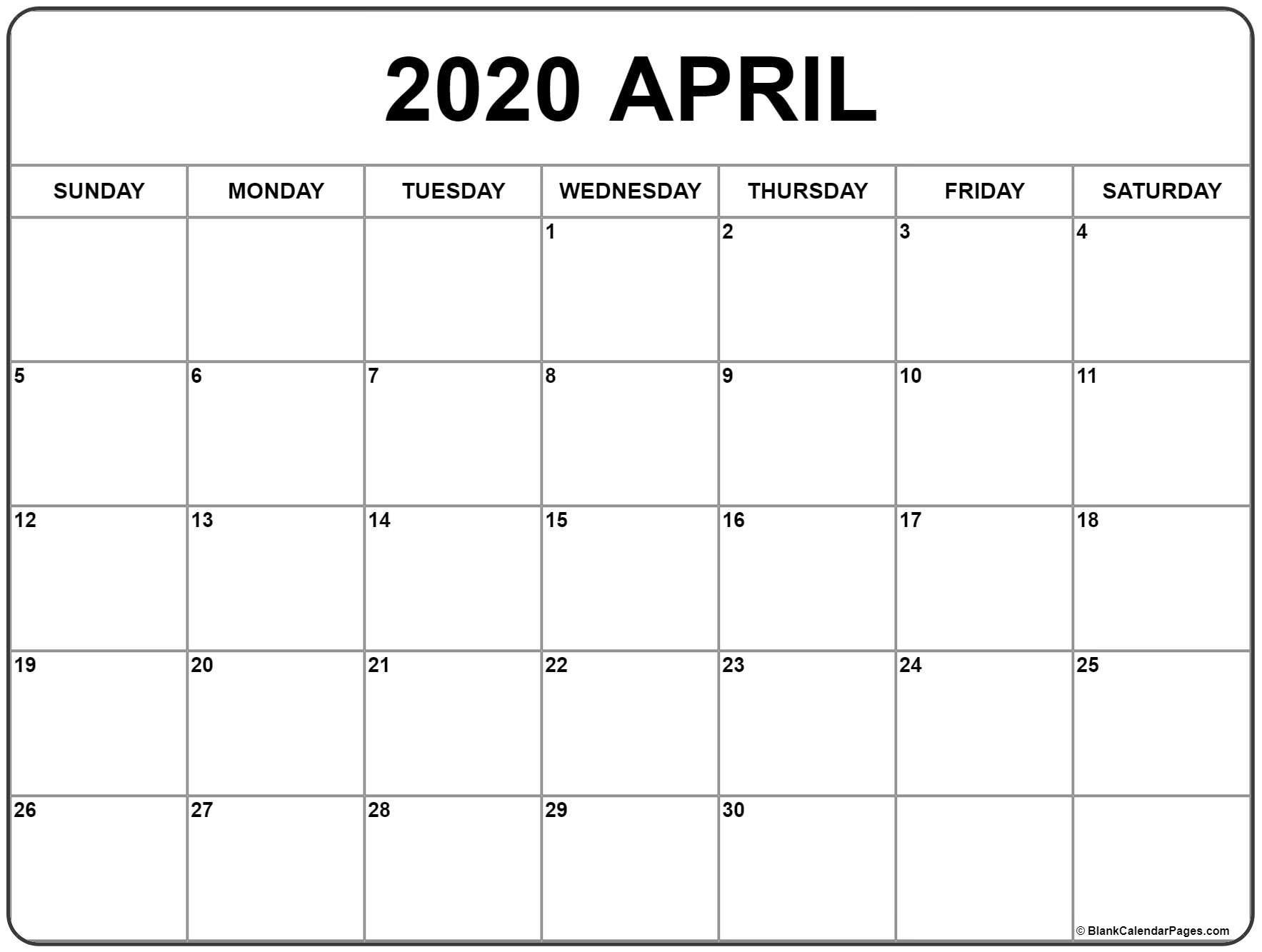 April 2019 Calendar Template Printable In Pdf Word Excel In 2020