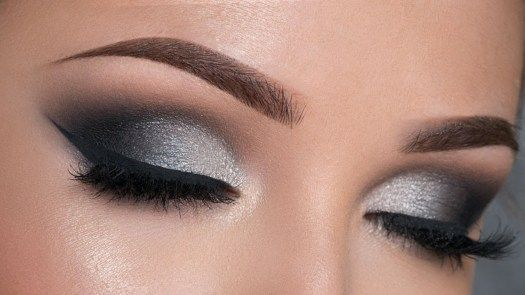 Eye Makeup Evening Night Makeup Tutorial Black Silver Smokey Eye
