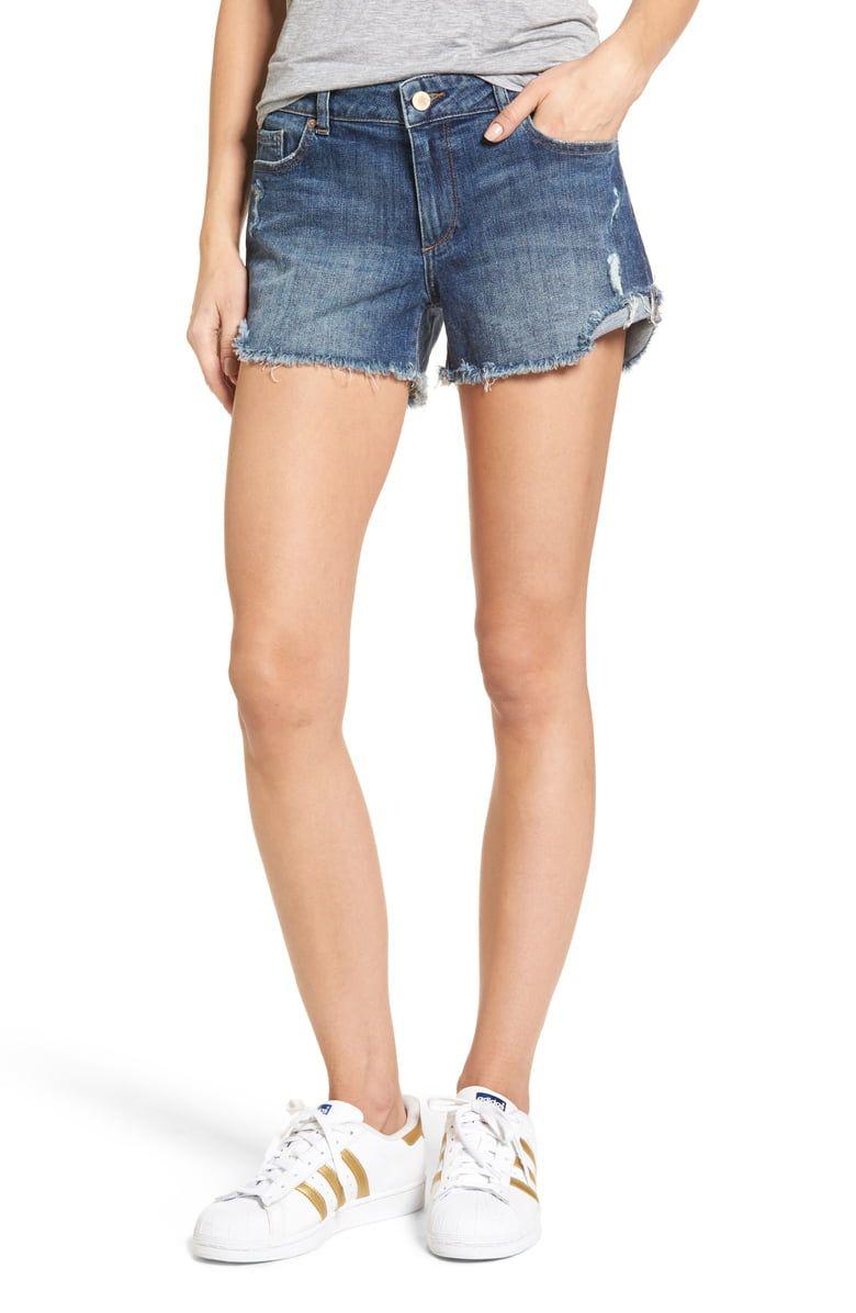 fdb23dfb6a DL1961 Karlie Cutoff Denim Boyfriend Shorts. Cut for a slightly slouchy  boyfriend fit, these
