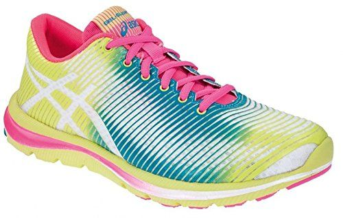 Asics Running Shoes Gel Super J33 Ladies Yellow Green Mt 36
