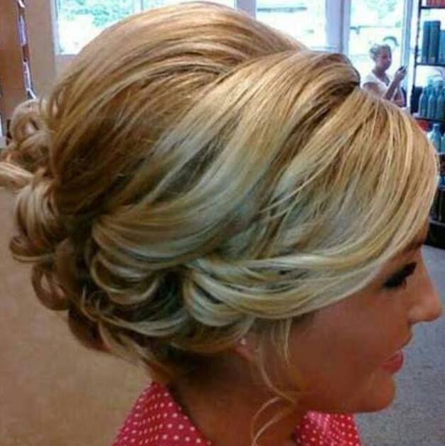 Backcombed Messy Curly Upstyle Hair Styles Short Bridal Hair Hair
