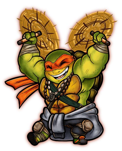 Chibi Mikey Teenage Mutant Ninja Turtles Art Tmnt Tmnt Artwork