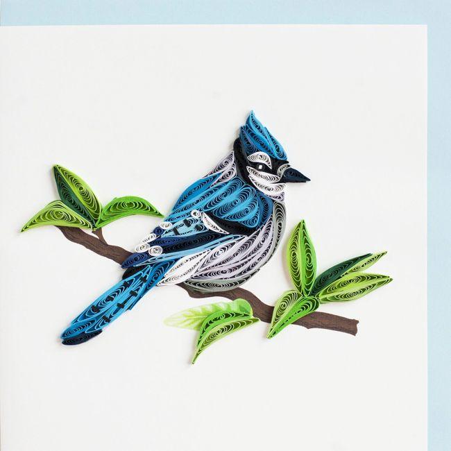 Oiseau sur branche quilling product image endroits for Oiseau couleur