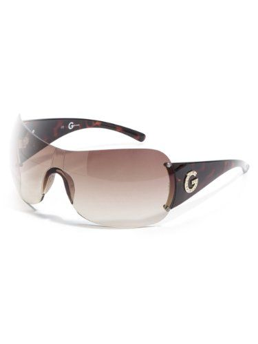 2ef8156f83 G by GUESS Women s Rimless Shield Sunglasses with Rhinestone Temple  guess   womens  sunglasses