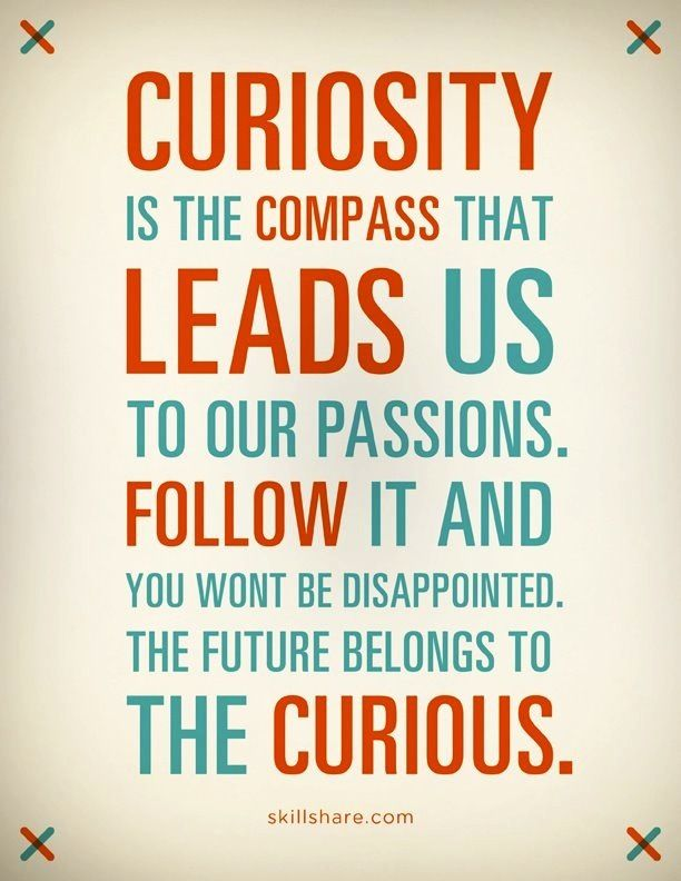 Curiosity Is The Compass That Leads Us To Our Passions Follow It An Inspiration Curiosity Quotes