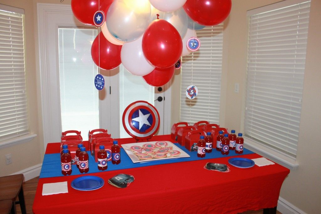 Captain America Themed Party | eventstocelebrate.net