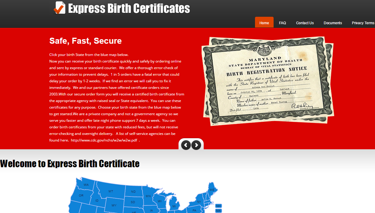 Get your Birth Certificate quickly by ordering online. Share your ...