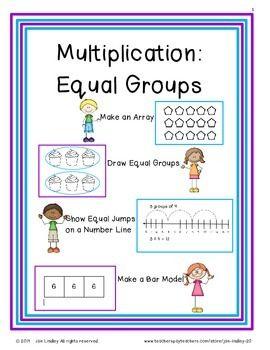 multiplication adding equal groups models activities and student. Black Bedroom Furniture Sets. Home Design Ideas