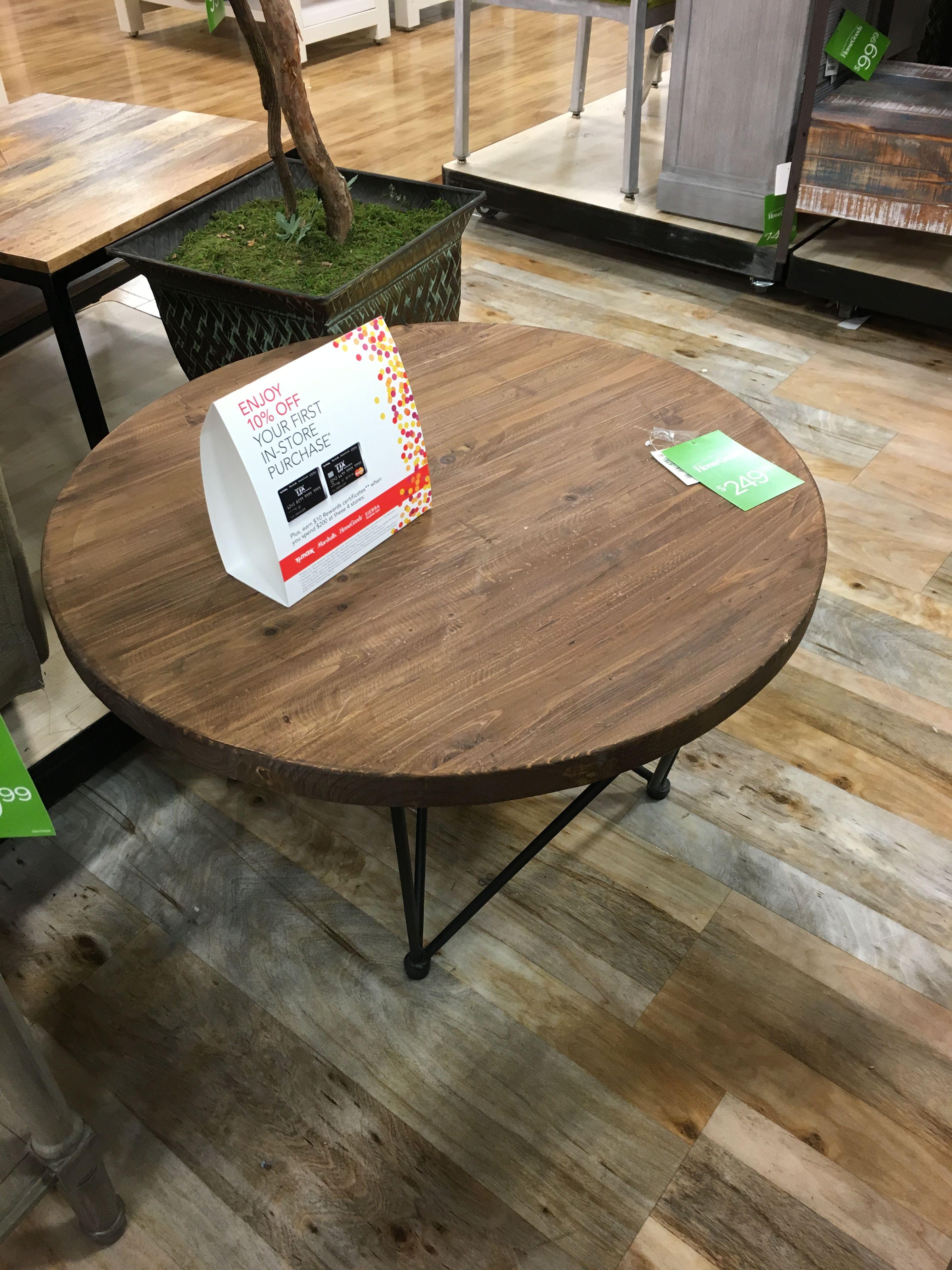 Coffee table idea home goods cedar hill coffee table