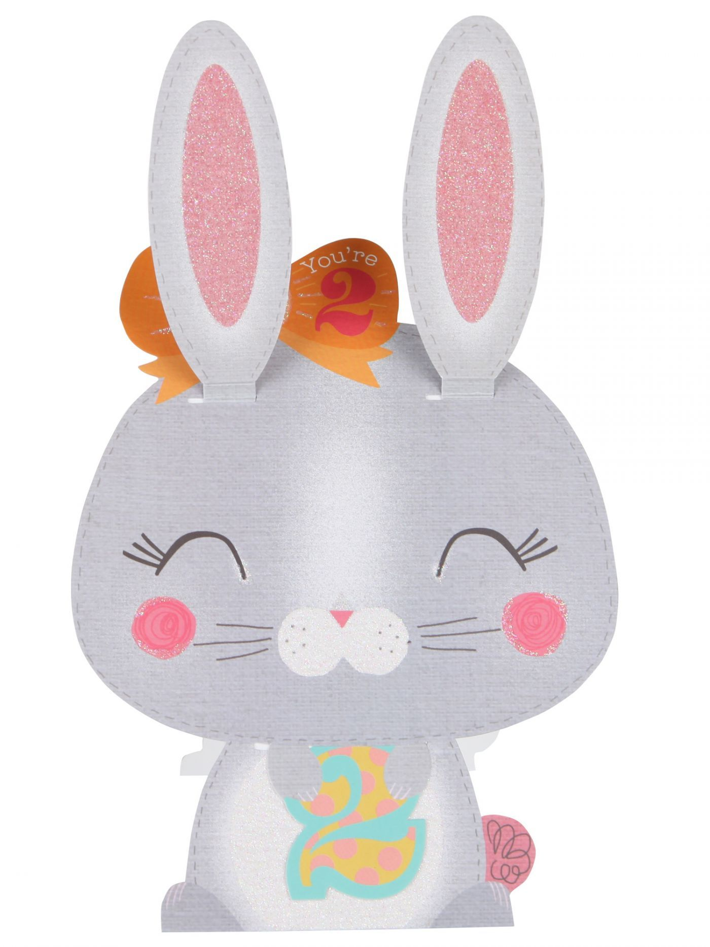 Bunny 2nd Birthday Card Kids 1 12 Birthday Cards Cards