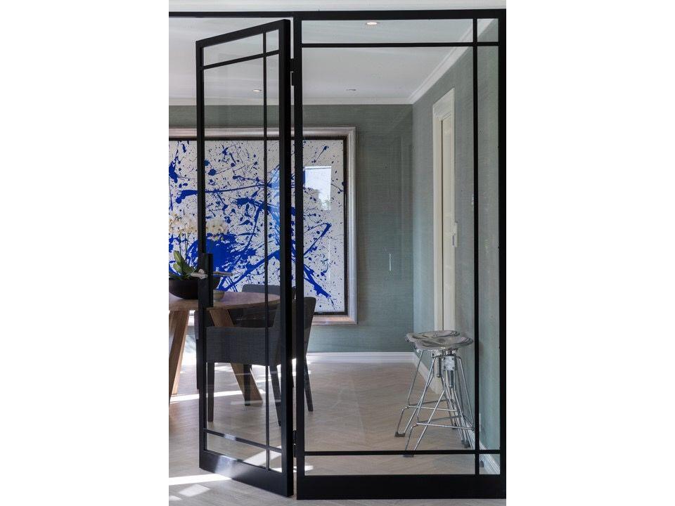 Steel framed room dividers