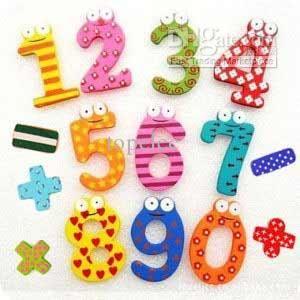 Wholesale Symbol Fridge Magnet Colorful Digital Shape Child Learning