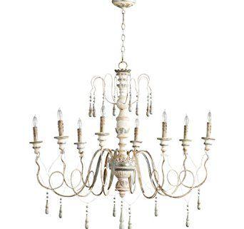 cyan lighting 05714 chantal eight light small chandelier parisian