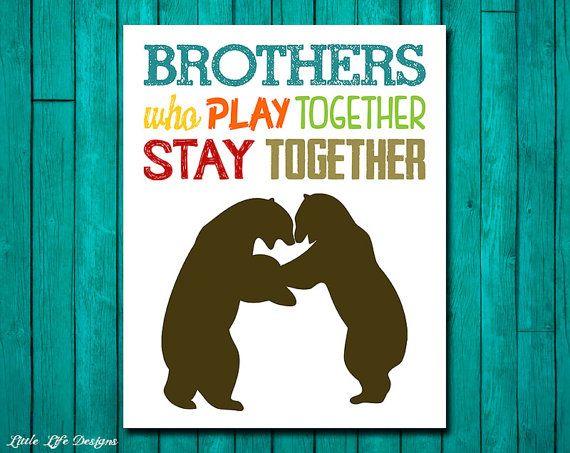 Brothers Wall Art. Playroom Wall Art. Play Together. Playroom Decor ...