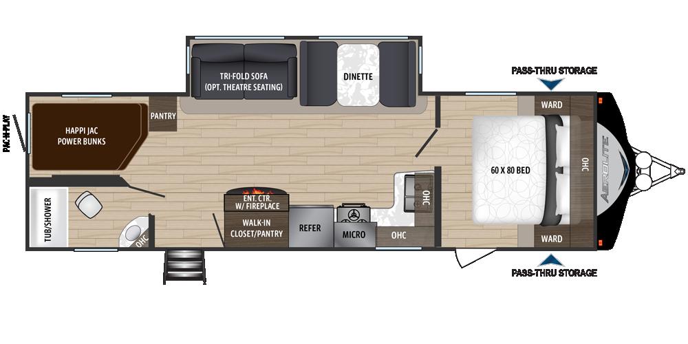 Dutchmen Aerolite 2843bh Travel Trailer Floor Plans Travel Trailer Bunk House