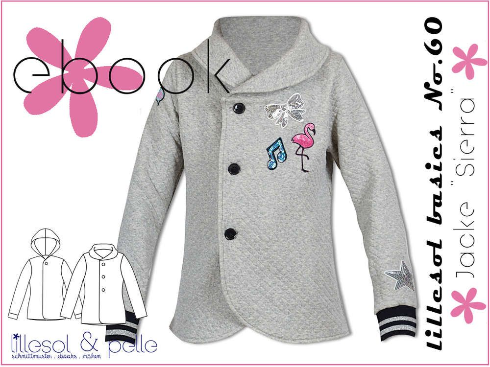 c73f3ba44b Schnittmuster / Ebook lillesol basics No.60 Jacke Sierra/ Nähen Jacke /  Kinder /