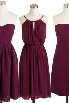 Cranberry Red Burgundy Bridesmaid Dresses Short Dresses Short Burgundy Bridesmaid Dresses Beach Bridesmaid Dresses Simple Bridesmaid Dresses